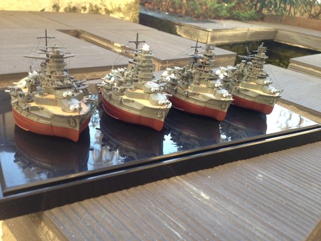 ちび丸艦隊金剛型四姉妹をディスプレイ